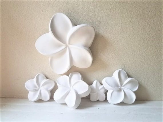 Plumeria wall hanging sculptures, wall flowers, Hawaiian flowers, Frangipani