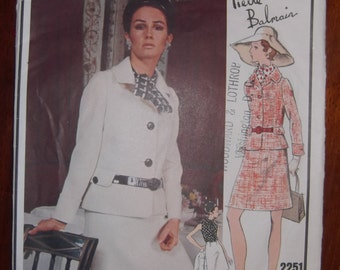 Vogue Paris Original 2251 Misses' Two Piece Suit and Blouse Size 8 Pattern