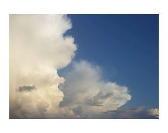 Blue wall art, blue sky photo, Clouds Photo, cloud wall art, bathroom wall decor, wall decor bedroom, nature photos, sky art