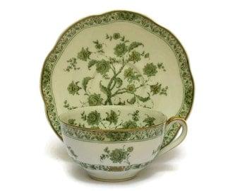 Haviland Limoges Porcelain Tea Cup and Saucer In Cashmere Pattern.