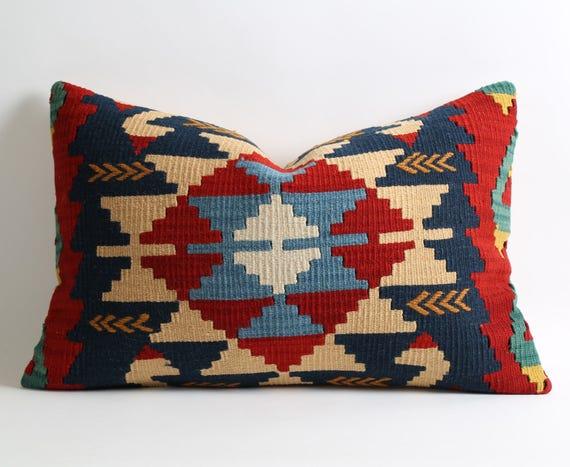Modern Decorative Lumbar Pillows : Bohemian decor modern decorative lumbar kilim pillow cover