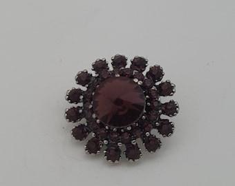 Snap Dark Purple Rivoli Cluster Charm Snap Popper