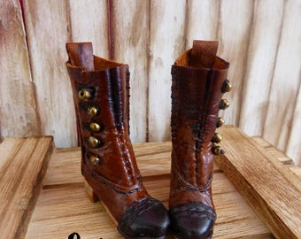 "New! ""ORFANATO"" Vintage leather boots for Pure Neemo. 100% handmade. Only one available"