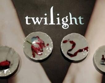 Dolls House miniature Twilight Saga set of 4 ceramic plates