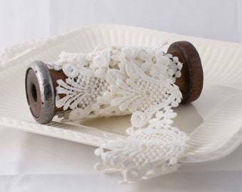Vintage White Venice Lace Trim,White Lace Trim, Wide White Lace Trim