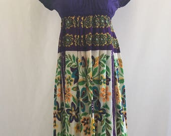 vintage 60's YOUNG EDWARDIAN by ARPEJA maxi dress - small