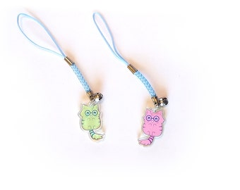 "NerdCat 1"" Acrylic Charm with Phone Strap (Double-Sided)"