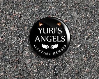 Yuri On Ice Inspired 'Yuri's Angels' Lifetime Member 1 Inch Pinback Button / Badge