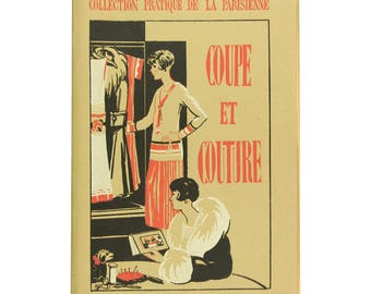 Vintage cutting and sewing book, 1930s French dressmaking reference book