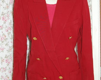 Vintage Chanel Boutique really red blazer. Size 36