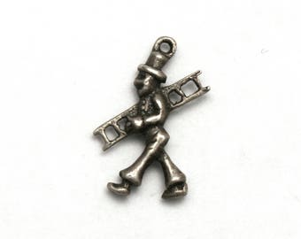 Chimney Sweep Bracelet Charm Vintage 835 Silver Good Luck Charm