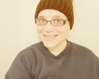 Messy Bun / Ponytail Beanie - Various Sizes & Colors - Made-to-Order