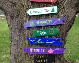 7 Pack Wooden Directional Signs  - Choose any 7 signs from our shop