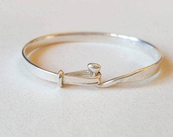 "Vintage Georg Jensen sterling silver ""Torun"" bracelet, Denmark - FREE SHIPPING (F834)"