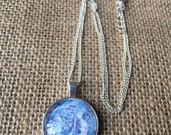 Blue Monochromatic Pendant Necklace