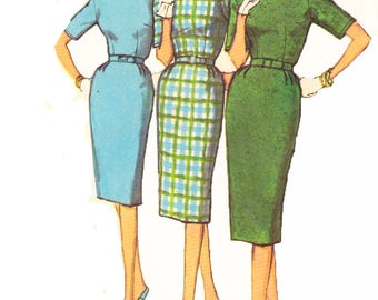 Simplicity 3574 Vintage 1960s Womens Sewing Pattern Wiggle Dress  Sewing Pattern
