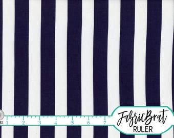 NAVY BLUE STRIPE Fabric by the Yard, Fat Quarter Navy & White Striped Fabric Blue Quilting Fabric 100% Cotton Fabric Apparel Fabric a5-34