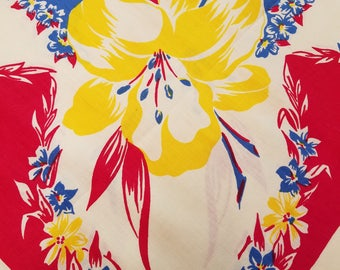 Hibiscus Tablecloth - Vintage  #19