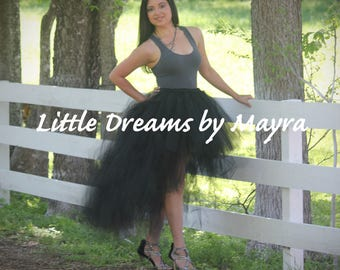 Short in the front and long in the back adult tutu available in 35colors, teen tutu skirt, long bachelorette tutu skirt