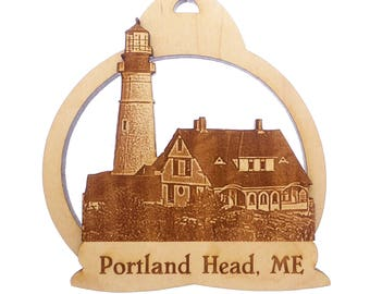 Portland Head Lighthouse Ornament- Cape Elizabeth - Portland Head Maine - Maine Gifts