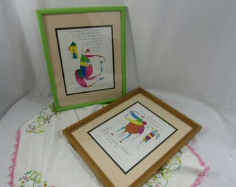 Framed Story People Art Print Brian Andreas Closet Angels Angels of Mercy