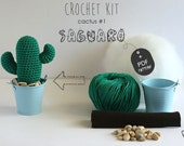 Crochet Kit Cactus #1 Saguaro, Make your own cacti of many colors