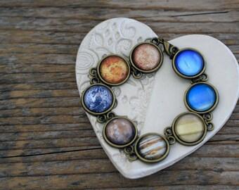 Solar System Bracelet, Planet Bracelet, Space Bracelet, Galaxy Bracelet, Solar System, Planet Jewelry, All Planets Bracelet, Only Planets