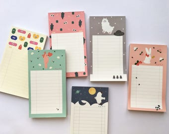 Set of 6 Cute Notepad SN1505