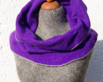 Knitted Angora Wrap Cowl Loop Neck Warmer