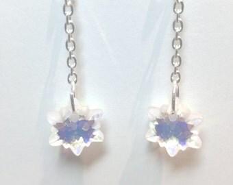 Swarovski crystal snowflakes