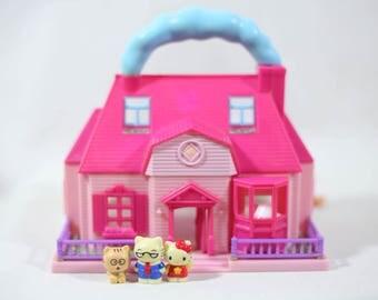 Vintage Bluebird Hello Kitty Miniature Dollhouse play set, Hello kitty vintage, sanrio, polly pocket, bluebird, vintage hello kitty
