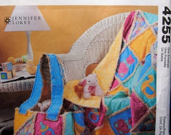 Rag Quilt And Diaper Bag For Baby McCall's Crafts 4255 Uncut Sewing Pattern 2003