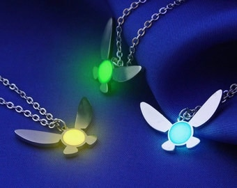 Glow in the Dark Navi Necklace, Zelda Necklace, Geekery, Geek Necklace, Glowing, Glow in the Dark, Friendship Necklace, Gamer, Link Zelda