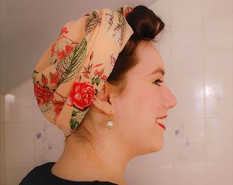 Vintage Roses Square Headscarf