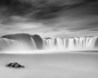 "Fine Art Photography, Landscape Photography, Wall Art, Landscape Print, Iceland, Waterfall - ""Godafoss"""