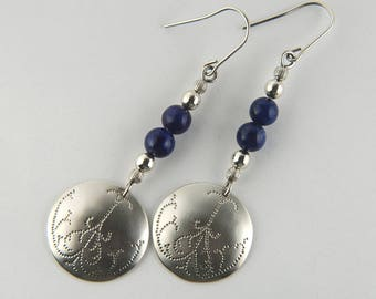 Hammered Earrings Silver Textured Earrings Artisan Earrings Silver Gifts for Mom Hammered Jewelry