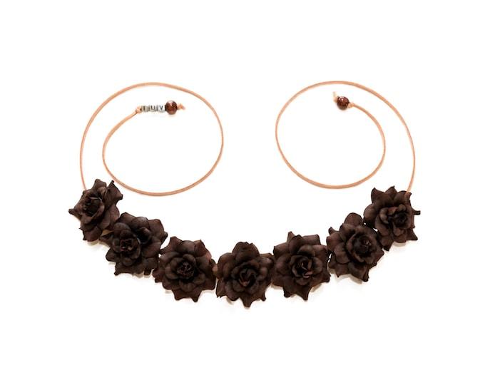 Brown Rose Flower Crown