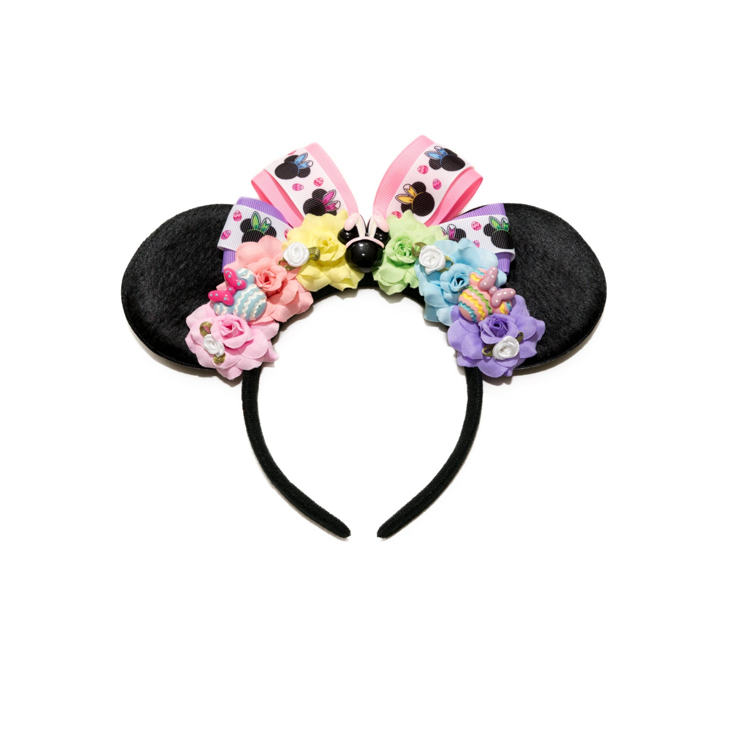 easter mouse ears headband floral mouse ears flower mouse