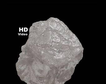 0.96 Ct Natural Loose Diamond Uncut Rough Natural Shape Silver White Grey Color L6967