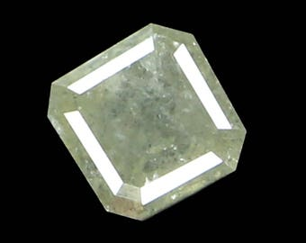 0.56 Ct Natural Loose Diamond Emerald Shape Grey Color 4.57X4.51X2.72 MM K2421