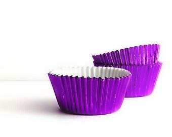 Purple Foil Cupcake Liners