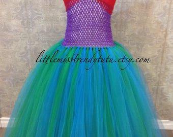 Little Mermaid Inspired Tutu Dress, Little Mermaid Tutu Dress, Ariel Tutu Dress, Ariel Costume, Ariel Tutu Dress, Mermaid Tutu Dress