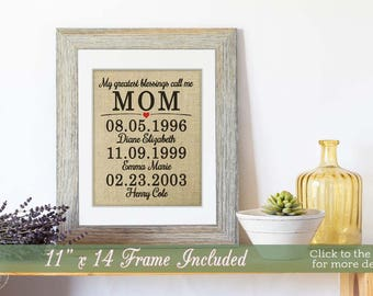 Christmas Gift for Mother Daughter Gift for Mom Wedding, Christmas Gift from Kids, My Greatest Blessings Call Me Mom, MOB Gift, Mom Gift