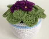 Crochet African Violet Plant