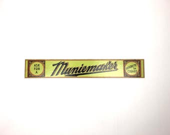Vintage Cigar Sign 1940s Muniemaker Cigar Sign Vintage Small Muniemaker Cardboard Cigar Advertising Sign
