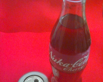 Cherry Cola - Glow Lamp - Cos-Play - red - Hand made - Glass