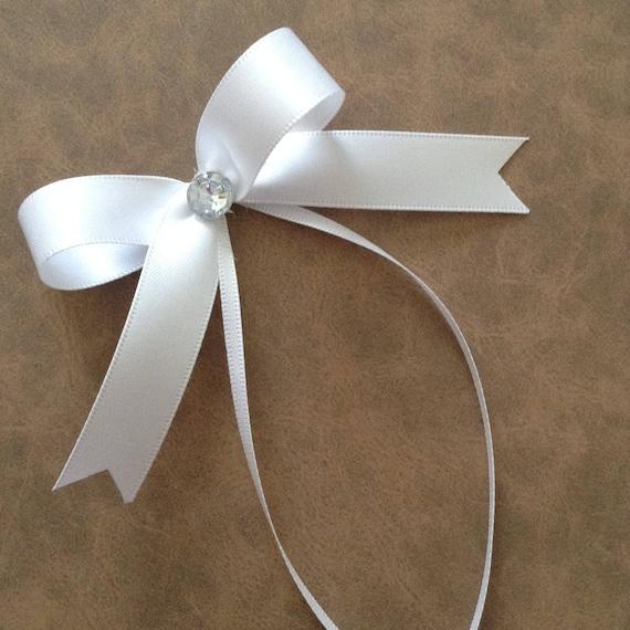 wedding white small decorative bows tiny white bows set of. Black Bedroom Furniture Sets. Home Design Ideas