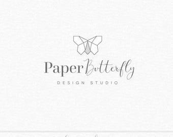 Paper Butterfly Logo, Origami Logo, Geometric Logo, Butterfly Logo, Simple Logo, Photography Logo, Business Logo, Minimalist Logo