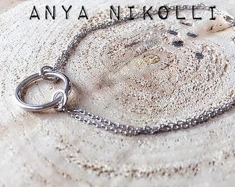 Karma bracelet,Circle bracelet,Sterling silver bracelet, Dainty bracelet,Dainty jewelry, Dainty Sterling silver bracelet, Layering bracelet