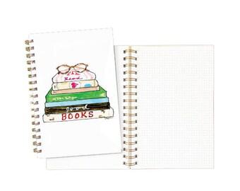 Gold Spiral Notebook: Read Good Books